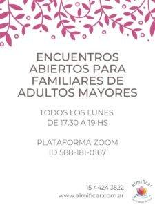 Encuentros abiertos para familiares de adultos mayores